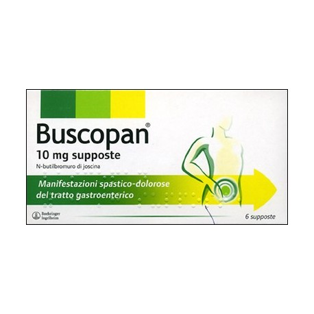 BUSCOPAN 6 SUPPOSTE 10 MG.