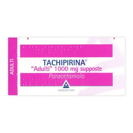 TACHIPIRINA ADULTI 1.000 MG SUPPOSTE