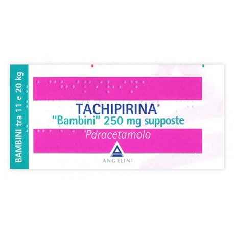 TACHIPIRINA BAMBINI 250 MG SUPPOSTE