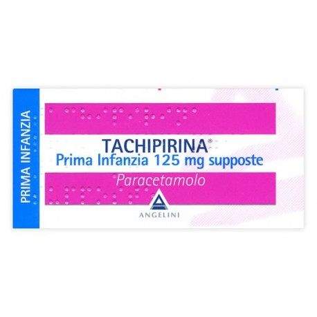 TACHIPIRINA PRIMA INFANZIA 125 MG SUPPOSTE