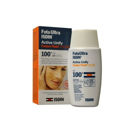 ISDIN FOTO ULTRA ACTIVE UNIFY COLOR FUSION FLUID SPF 100+ ML. 50