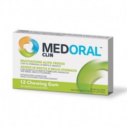 MEDORAL CLIN 12 CHEWING GUM 17 G