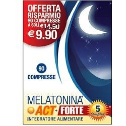 MELATONINA ACT 1MG + MELATONINA ACT FORTE 5MG COMPLEX 90 COMPRESSE